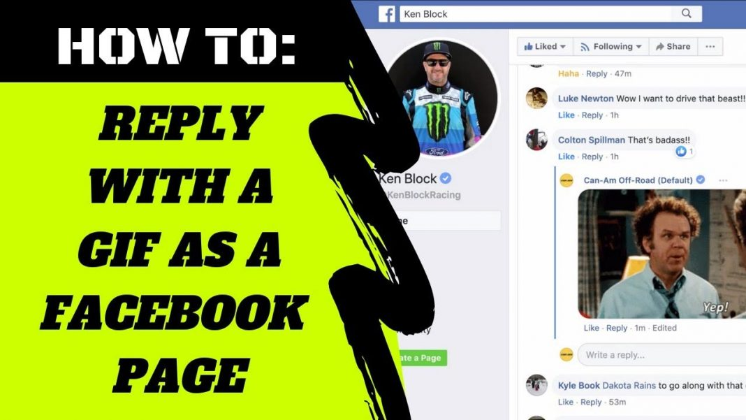 How to Reply Back to a Facebook Page Post As a Page Using a GIF