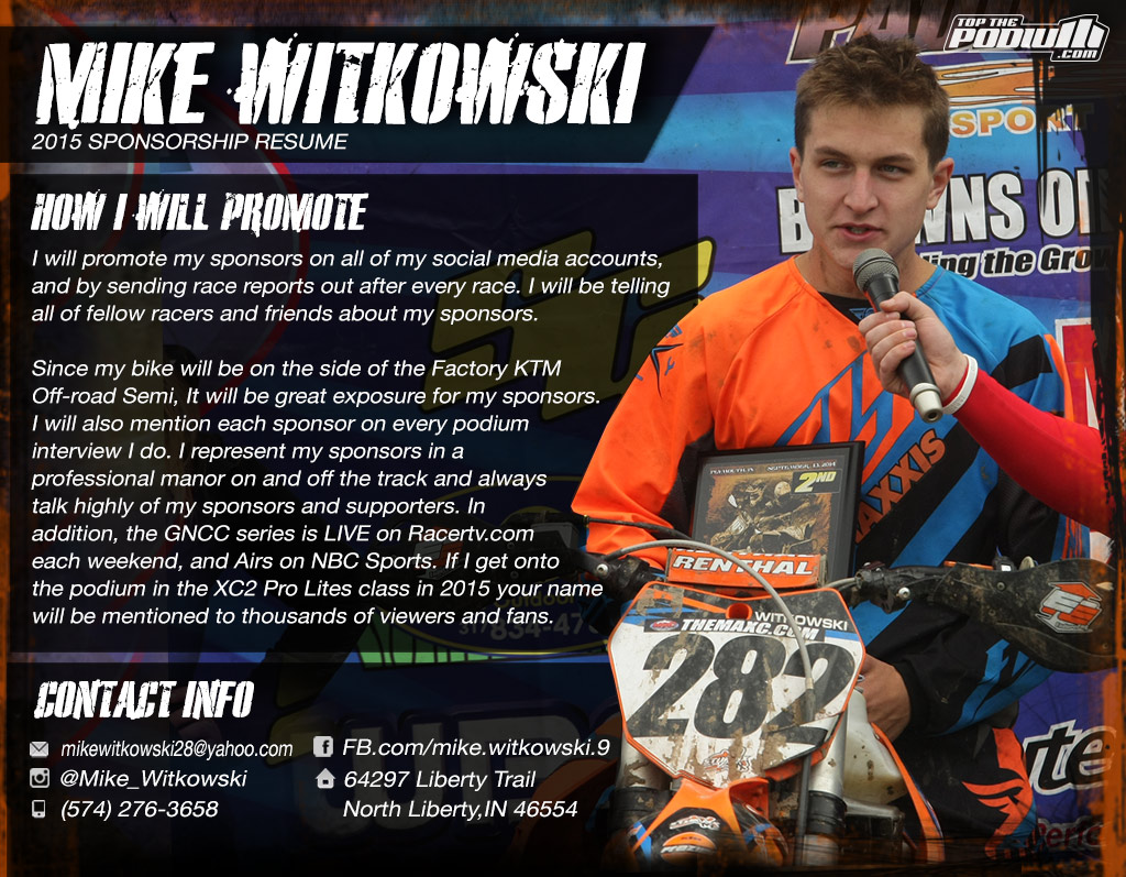 How To Write A Racing Resume