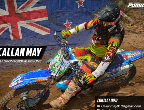 motocross sponsorship resume